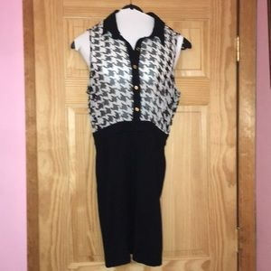 Forever 21 Houndstooth Business Casual Work Dress